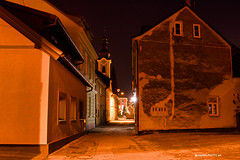 Old streets on lights (malioli) Tags: nightstreet urban city place town canon karlovac croatia hrvatska europe lights night