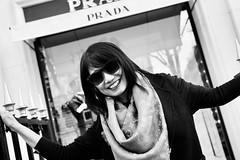 Prada | Avenue Montaigne | Paris France (Paul Tocatlian | Happy Planet) Tags: paris shopping shops france blackwhite blackwhitephotography vietnamese fashion dior christiandior prada maxmara hannahdo happyplanet asiafavorites