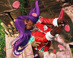 Scattered Dreams (LiangScorpio) Tags: secondlife sl rose petals poem flowers anthy utena cureless duelist uniform
