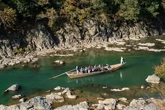 DSC09545 (wertyuioqp) Tags: river kyoto japan arashiyama boat rafting trees mountains nature autumn fall