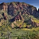 Pulliam Peak and the Jagged Peaks of the Chisos Mountains (Big Bend National Park) thumbnail
