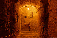 Calcata, Central Italy (Claudio_R_1973) Tags: village calcata arch centralitaly architecture tuscia night light mistery dreamy red reddish wall street lonely loneliness urban