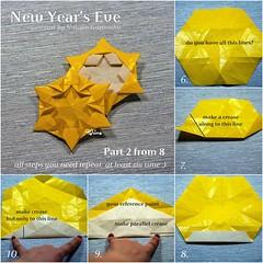 Tutorial New Year's Eve - part 2 (talina_78) Tags: origami star hexagon tutorial