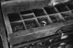 Lettere sparse (encantadissima) Tags: tipografia versi lettere cassetti polvere riquadri maniglia bienne caratteri
