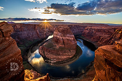 Horseshoe Bend Sunset #526 (DBruner240) Tags: horseshoe bend sunset page arizona az reflections clouds suset