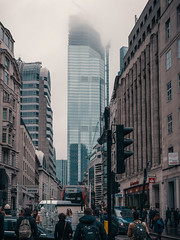 City fog (Мaistora) Tags: street city morning cold winter spring cloudy misty foggy fog rush rushhour workday grey wet buildings architecture cityoflondon squaremile monument bishopsgate tower towerhill londonbridge traffic pedestrians busy leica lightroom