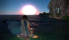 A Faerie Sunset (Sabreene) Tags: virtual faerie secondlife sl avatar sunset