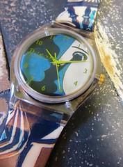 swatch Picasso (hussi48) Tags: uhr watch swatch picasso blau blue closeup zahlen timepieces macromondays