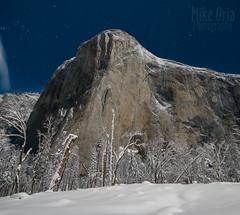 El Cap by Moonlight (mikeSF_) Tags: california yosemite yosemitenationalpark ynp park nationalpark pentax pentax645z 25mm night longexposure winter snow outdoor elcapitan capitan granite sheer face dawn wall