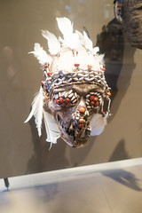 New Guinea fright skull (quinet) Tags: 2017 amsterdam antik netherlands tropenmuseum ancien antique museum musée
