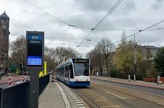 """Busje"" komt zo. (Peter ( phonepics only) Eijkman) Tags: amsterdam city combino gvb detour omleiding roadworks wegwerkzaamheden tram transport trams tramtracks rail rails strassenbahn streetcars nederland netherlands nederlandse noordholland holland"