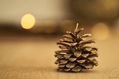 Dark days (eleni m) Tags: dark grey januari 2019 candles background table pinecone macro dof bronze