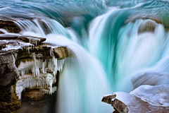 Seasons change (Dallas R) Tags: nature jasper alberta canada national beauty serene long exposure silky waterfall athabasca landscape canonphotography dreamscapes travel wanderlust travelphotography blue park snow ice winter