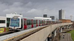 RET 5321 arriving at Spijkenisse Centrum (Nicky Boogaard) Tags: ret metro subway spijkenisse spijkenissemetrocentrum spijkenissecentrum 5321 ret5321