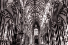 Lincoln Cathedral interior (robin denton) Tags: cathedralcity cathedral gothiccathedral gothicarchitecture gothic architecture historicbuildings historicbritain church lincoln interior phonecamera samsungs7 photomatix hdr