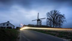 Moulin Defrenne [Explore] (cedant1) Tags: moulin defrenne windmill vent bluehour blue gembloux grandleez leez namur province belgium belgique wallonia wallonie cokin gnd nikond750 nikon afs1635f4 nikkor nisicpl nisiv5pro night light longexposure