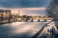 The Seine (Ro Cafe) Tags: paris seine river city cityscape urban winter bridge eiffeltower nikkor2470f28 sonya7iii