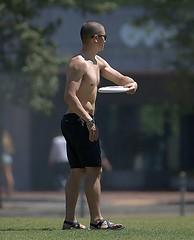 Shirtless (Scott 97006) Tags: frisbee play guy male man sunshine park shades