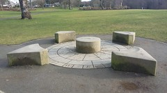 Westhill Compass, Denman Park, Westhill, Aberdeenshire, Feb 2019 (allanmaciver) Tags: westhill compass denman park aberdeenshire scotland north east caithness flagstone moray sandstone mary bourne 2010 design south west points