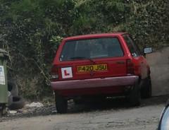 1989 VW Polo (occama) Tags: f420jsu vw polo 1989 volkswagen red old car cornwall uk breadvan bangernomics