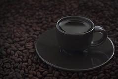 Coffee (m*x) Tags: roast latte cappuccino espresso tasse kaffee kahvi café still stilllife smoke hot productshot product black cupofcoffee cup dark brown beans coffeebeans coffee