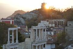 Sunset over Roman Amphitheatre (Chickenhawk72) Tags: plovdiv bulgaria sunset roman amphitheatre
