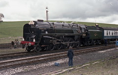 92220 Evening Star  Hellifield 1978 (Barrytaxi) Tags: steam loco 9f settle carlisle yorkshire
