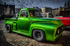 Customized FORD pickup truck (Peters HDR hobby pictures) Tags: petershdrstudio hdr ford classictruck customcar customized pickup pickuptruck green lkw transporter grün classicremise