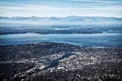 Puget Sound (LongInt57) Tags: water ocean pacific pugetsound landscape mountains city salmonbay seattle washington usa islands coast blue
