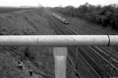 Just starting a new black&white 35mm film series on a short area of the RER D suburban railway between Louvres and Fosses North of Paris. (miroir.photographie) Tags: tmax100 2019 analog argentique france istillshootfilm kodak mzs pentax rerd