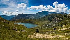 Andorra, Pyrenees (SchmitzerPics) Tags: andorra landschaft landscape nature natur olympus getolympus wandern wanderlust trekking hiking hike travel travelling reise reisen urlaub oyrenäen pyrenees green lake see bergsee berge berg mountain mountains gebirge beautiful clouds sky panorama pano