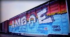 (timetomakethepasta) Tags: amboe kfc enero steak freight train graffiti art wholecar boxcar