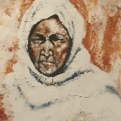 682 (Cheryl Gaer Barlow) Tags: native american indian face woman painting art paintings impressionistic