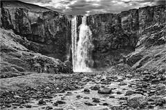 Icelandic Waterfall (photographybytomlane) Tags: leica leicasl blackandwhite monochrome iceland warefall