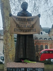 Courage Calls to Courage Everyone, Dame Millicent Garrett Fawcett 1847-1929 (Suffragist), Campaigner for Women's Suffrage, Gillian Wearing (Sculptor), Parliament Square, SW1, City of Westminster, London (f1jherbert) Tags: lgg6 lgelectronicslgh870 lgelectronics lg g6 lgh870 electronics h870 londonengland londonuk londongb londongreatbritain londonunitedkingdom london england uk gb united kingdom great britain greatbritain unitedkingdom