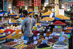 Tehran (Amaia Uriarte & Marvin Ancian) Tags: street iran persia perse bonnieklyde bonnieandklyde bk motorbike motorcycle moto adventure aventure overlanders overlanding roaditude road route travel voyage triumph bmw k100 bonneville tehran téhéran city capital capitale bazaar bazar market