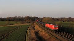 Erinnerungen (7) (Klaus Z.) Tags: eisenbahn kbs 385 sykegessel br 143 doppelbespannug güterzug mischer db cargo frühling