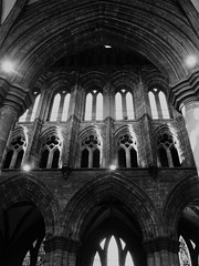 Looking up (Wider World) Tags: glasgow cathedral monochrome stmungo stkentigern gothic arches clerestory arcade