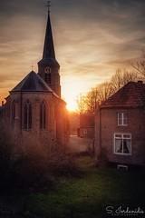 Sunset Time (Stathis Iordanidis) Tags: dramaticsky ancient belief religion netherlands kekerdom streetphotography countryside landscape architecture church sunlight sun sundown sunset