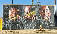 Our Issue by Sydney G James & Askew One (wiredforlego) Tags: graffiti mural streetart urbanart aerosolart publicart detroit michigan dtw mitm easternmarket askewone sydneygjames