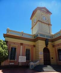 Deniliquin. The 1876 built Town Hall and clock tower. (denisbin) Tags: deniliquin riverina townhall church tower
