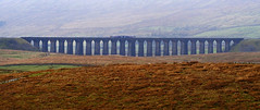 Ribblehead Viaduct from The Dales Way. (Gerry Hat Trick) Tags: wednesdaywalk walking walk hiking hike river ribble ribblesdale viaduct train landscape bridge arches settle carlisle railway line limestone