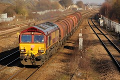 66108 - 6J94 - 2019-02-15 - In Explore! (BillyGoat75) Tags: class66 66108 dbcargo hedonroadsidingstomasboroughfd freight hatfieldstainforthstation railway stainforth doncaster southyorkshire 6j94