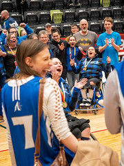 Jonathan Strome - 2019 02 21 Wheelchair Basketball Medal Ceremony (JTStrome) Tags: wheelchair basketball medal medals ceremony finals alberta ontario smile blue red athlete athletes sport fan fans