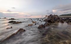 tanjung balau with love (abduljalilhassan975) Tags: seascape sea beach stonebeach sunrise stone landscape longexpose tanjungbalau johor malaysia amazingmalaysia beautiful clouds cloud nature nikond7000 sigma1020mm