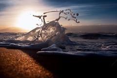 The soft sea foam when it finds obstacles (Nicola Ferro) Tags: sea seascape waves mare sardegna sardinia nature photography photo nikon shooting