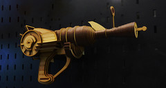 The Eliminator (Steve Taylor (Photography)) Tags: eliminator art blue brown wooden newzealand nz southisland canterbury christchurch armageddonexpo gun raygun shooter steampunk