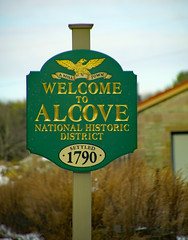 Welcome to Alcove (dr.tspencer) Tags: sign alcove coeymansny coeymans albanycounty tamron16300mm