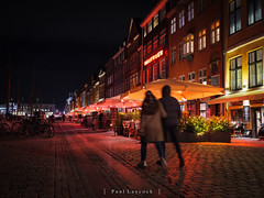 Nyhavn Nights (amipal) Tags: 175mm capital city copenhagen denmark europe holiday lowlight manuallens night travel urban voigtlander nyhavn canal riverside social bar restaurant colour