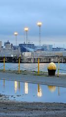 DSCN4353 (Darren B. Hillman) Tags: p900 nikon reflections water murk gloom towerlights floodlights alfredbasin birkenheaddocks dockside